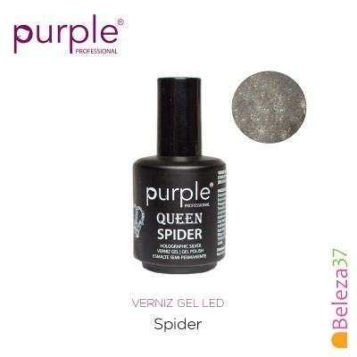 Verniz Gel UV/LED 15ml PURPLE 632 – SPIDER (Linha Queen)