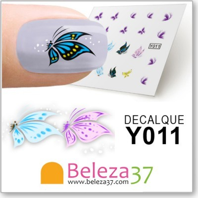 Decalques com Borboletas Coloridas (Y011)
