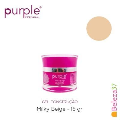 Gel Construtor Purple Milky Beige –Beige Leitoso 15g
