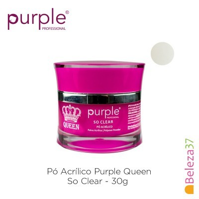 Pó Acrílico Purple Queen 30g - So Clear