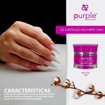 Gel Construtor Purple Milky White Opack – Branco Leitoso Opaco 15g