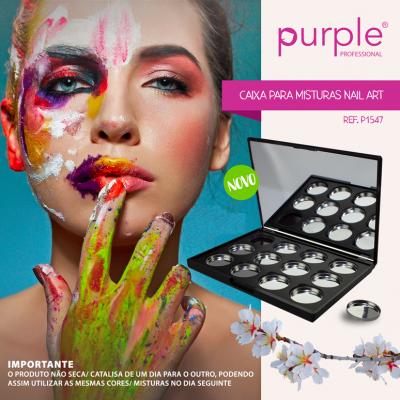 Caixa para misturas Nail Art PURPLE