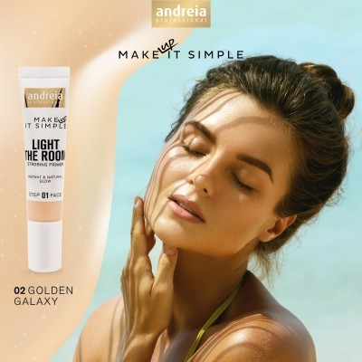 Andreia Face 1 - LIGHT THE ROOM - Strobing Primer - Cor 02 - Golden Galaxy