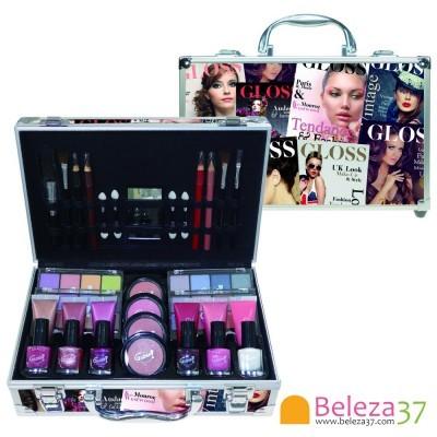 Mala com 61 peças de Maquilhagem Beauty Trend Color