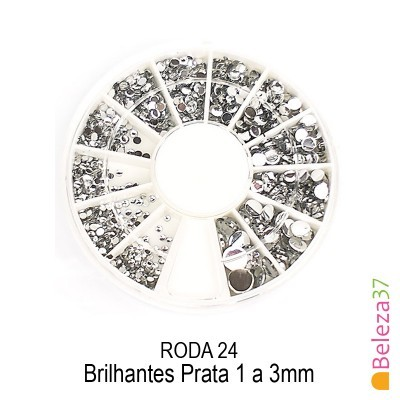 RODA 24 – Brilhantes Prata 1 a 3mm