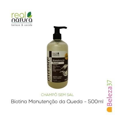 Champô Sem Sal Real Natura – Biotina Manutenção da Queda 500ml