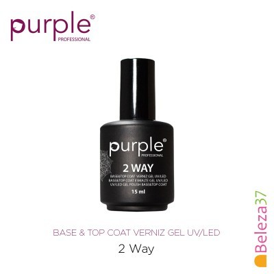 2 WAY Base & Top Coat PURPLE 15ml