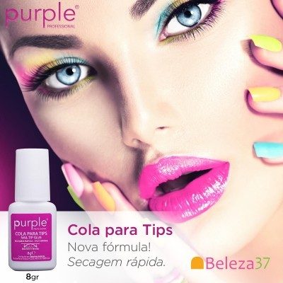 Cola Purple para Tips com Pincel 8g
