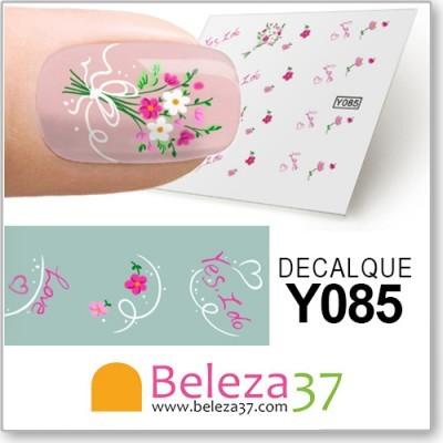 Decalques Bouquet de Flores Love (Y085)