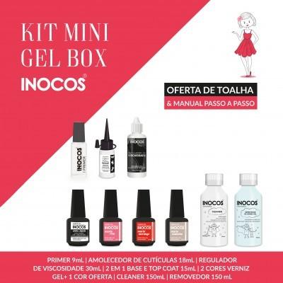 Verniz Gel Inocos — Kit Mini Gel Box