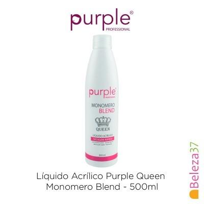 Líquido Acrílico Purple Queen 500ml - Monomero Blend (Secagem Rápida)