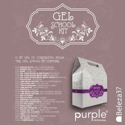 Gel School Kit Purple (Kit Iniciação Gel de Construção)