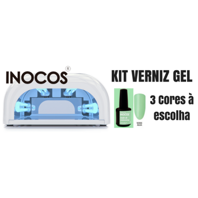 Kit Verniz Gel INOCOS | 3 Cores