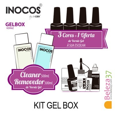 Verniz Gel Inocos — Kit Maxi Gel Box