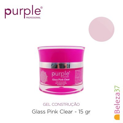 Gel Construtor Purple Glass Pink Clear – Rosa Transparente 15g
