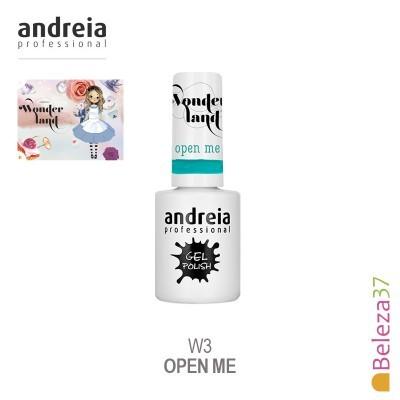 Verniz Gel Andreia W3 – Open Me (Verde com toque de Azul)