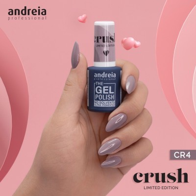 The Gel Polish Andreia CR4: À Luz das Velas - Cinza Arroxeado
