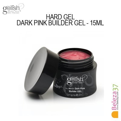 GELISH HARD GEL DARK PINK BUILDER GEL - 15ml