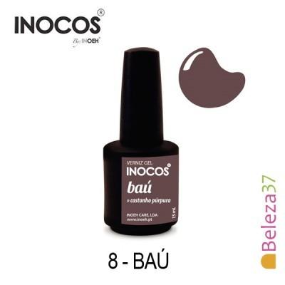 Verniz Gel Inocos 8 — Baú (Castanho Púrpura)