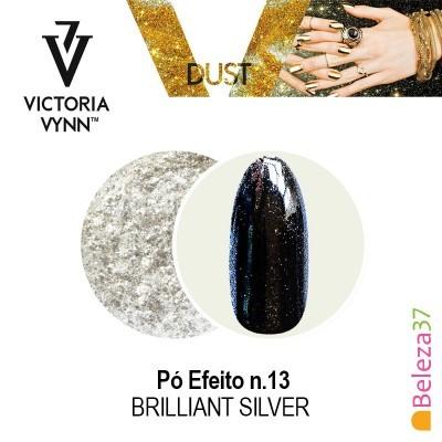 Pó Efeito Victoria Vynn n.13 Brilliant Silver (Prata Brilhante)