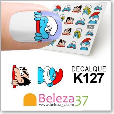 Decalques dos Estrunfes (Smurfs) (K127)