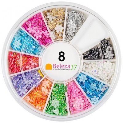 Roda 8 – Flores Iridescentes em 12 cores