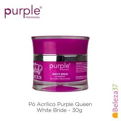 Pó Acrílico Purple Queen 30g - White Bride (Branco Leitoso)