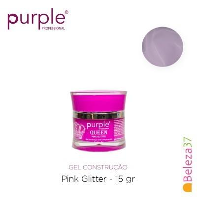 Gel Construtor Purple Queen Pink Glitter – Rosa com Glitter 15g