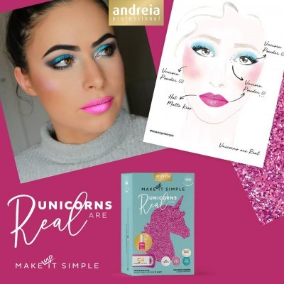 Coffret de Maquilhagem Andreia - UNICORNS ARE REAL