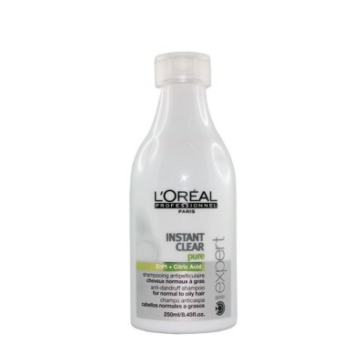 L'Oréal Shampoo Instant Clear Pure Anticaspa 250ml para Cabelo Normal a Oleoso