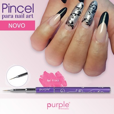 Pincel Nylon Nail Art Purple #00