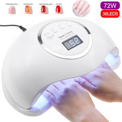 Catalisador de duas mãos UV/LED Sun5 Plus 72W