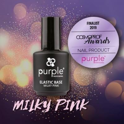 Elastic Base Milky Pink - Mega Base para Verniz Gel da PURPLE