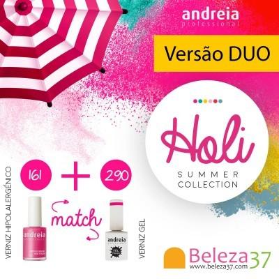 DUO - Verniz Gel Andreia 290 + Verniz 14ml n.161 (Rosa Forte)