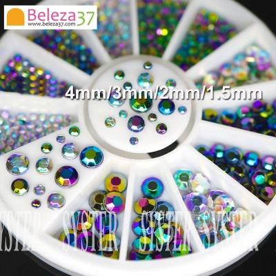 RODA 15 - Diamantes Iridescentes em 4 Tamanhos