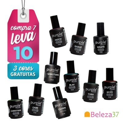 Verniz Gel PURPLE: COMPRA 7, LEVA 10