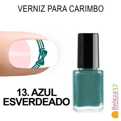 Verniz para Carimbo - 13. AZUL ESVERDEADO