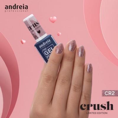 The Gel Polish Andreia CR2: Borboletas na Barriga - Glitter Rosa e Prateado