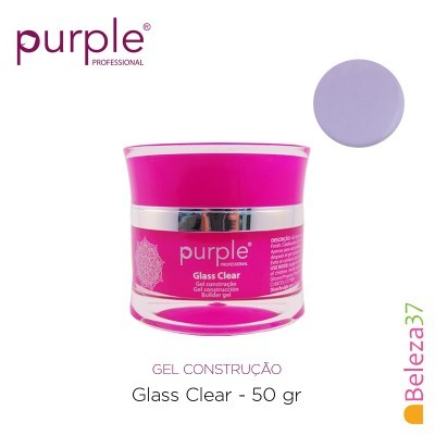 Gel Construtor Purple Glass Clear – Transparente 50g