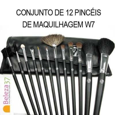 Conjunto de 12 Pincéis de Maquilhagem W7