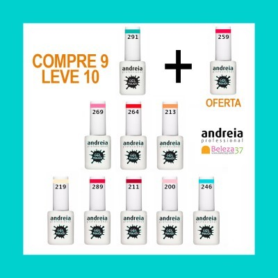Kit 10 Cores Andreia - Compre 9 e Leve 10