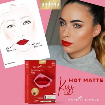 Coffret de Maquilhagem Andreia - HOT MATTE KISS