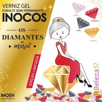 """Verniz Gel Inocos – Coleção Limitada """"Os Diamantes da Maria"""" (4 cores 15ml)"""