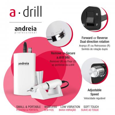 a.drill Andreia - Broca Micromotor Sem Fios Portátil