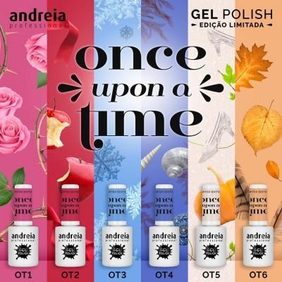 """Verniz Gel Andreia – 6 Cores da Coleção """"Once Upon a Time"""""""