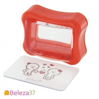 Carimbo Transparente e Raspador KONAD Clear Gelly Stamp Set