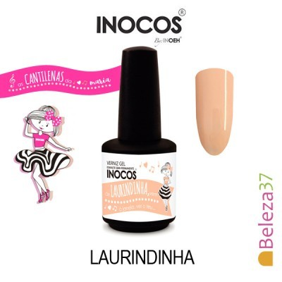 Verniz Gel Inocos 144 – Laurindinha (Laranjinha Pastel)