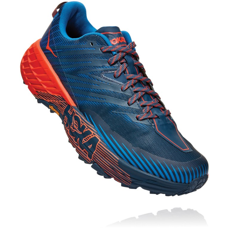 Hoka One One Speedgoat 4 - Majolica Blue/mandarin Red