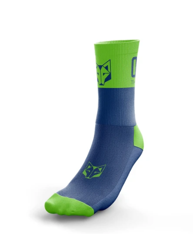 Multi-Sport Socks Medium Cut Electric Blue / Fluo Green