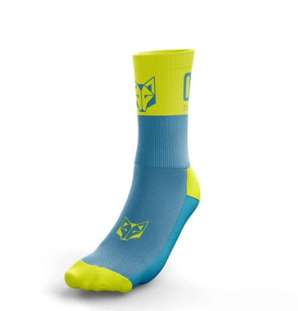 SOCKS MEDIUM LIGHT BLUE / FLUO YELLOW